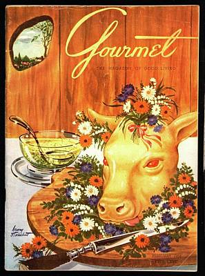 Tableware Photograph - A Gourmet Cover Of Tete De Veau by Henry Stahlhut