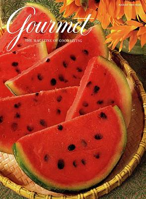 Sorbet Photograph - A Gourmet Cover Of Watermelon Sorbet by Romulo Yanes