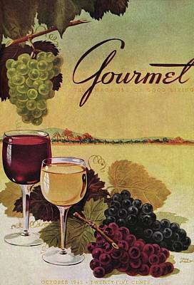 A Gourmet Cover Of Wine Art Print by Henry Stahlhut