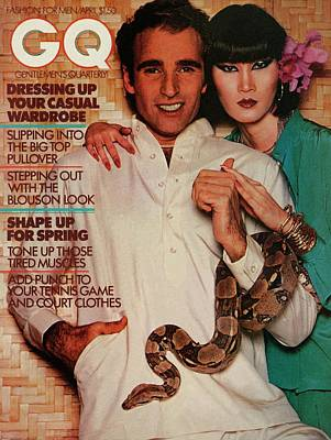 A Gq Cover Of A Couple With A Snake Art Print by Albert Watson