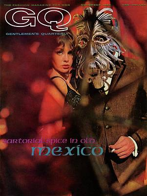 Men's Fashion Photograph - A Gq Cover Of A Model Wearing A Mask by Chadwick Hall