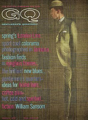 Men's Fashion Photograph - A Gq Cover Of Glen Plaid by Henry Haberman