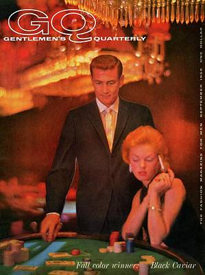 Men's Fashion Photograph - A Gq Cover Of Models At Casino De Capri In Havana by Richard Waite