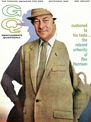 Men's Fashion Photograph - A Gq Cover Of Rex Harrison by Chadwick Hall