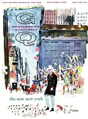 Flag Photograph - A Gq Cover Of The Plaza Hotel by Dong Kingman