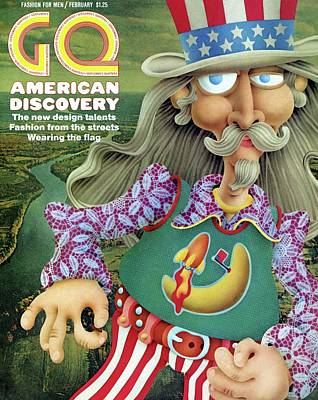 A Gq Cover Of Uncle Sam Art Print