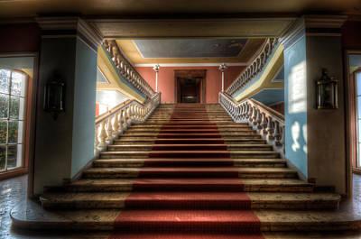A Grand Stair Way Art Print