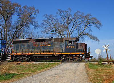 New Years - A Grande Locomotive in Georgia by Joseph C Hinson