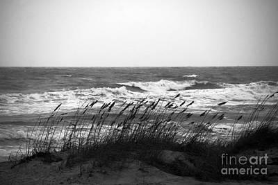 A Gray November Day At The Beach Art Print by Susanne Van Hulst