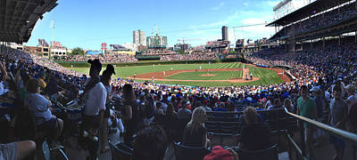 Photograph - A Great Day At Wrigley Field by Rod Seel