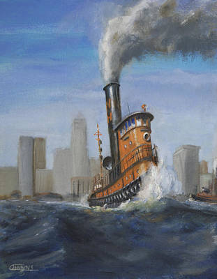 A Great Day For Tugs Art Print by Christopher Jenkins