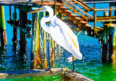 Painting - A Great Egrets Dream by David Lee Thompson