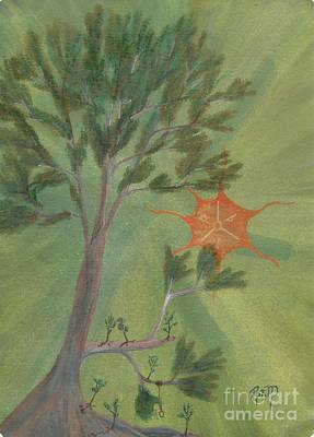 Painting - A Great Tree Grows by Robert Meszaros