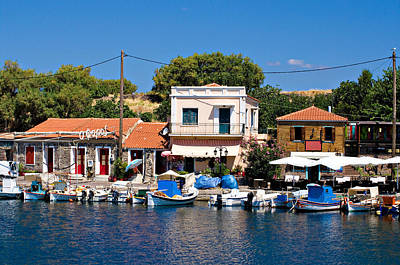 Photograph - A Greek Island Harbor by Meirion Matthias