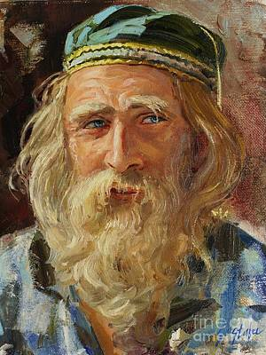 Painting - a Greek Portrait by Sefedin Stafa