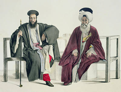 Orthodox Drawing - A Greek Priest And A Turk, Engraved by Louis Dupre