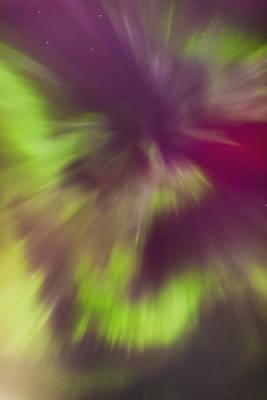 A Green And Magenta Northern Lights Art Print
