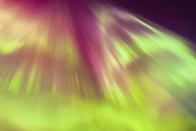 A Green And Purple Northern Lights Art Print