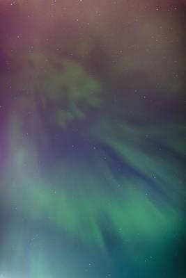 A Green Aurora Borealis Corona Art Print
