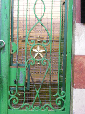 Photograph - A Green Door At The Tomb Of The Patriarchs by Esther Newman-Cohen