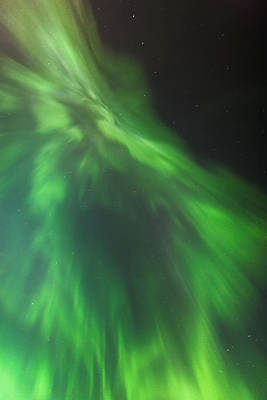 A Green Northern Lights Corona Art Print by Kevin Smith