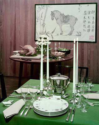 A Green Table Art Print