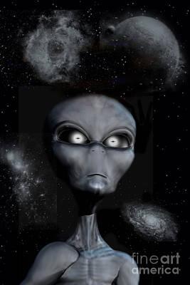 A Grey Alien Art Print by Mark Stevenson