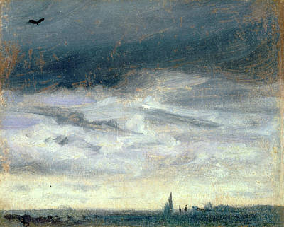 A Grey Day, Lionel Constable, 1828-1887 Art Print