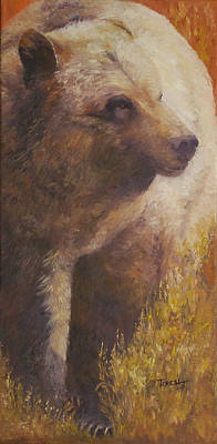 Painting - A Grizzly Encounter by Teresa Lynn Johnson