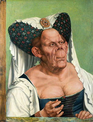 Grotesque Painting - A Grotesque Old Woman by Quentin Matsys