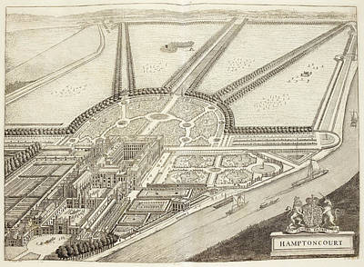 A Ground Plan Of Hampton Court Art Print by British Library