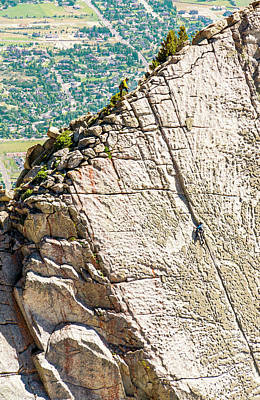 Wasatch Wall Art - Photograph - A Group Of Friends Work There Way by Ben Girardi