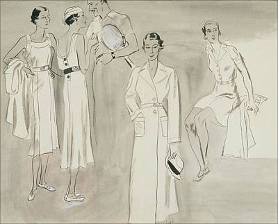 Men's Fashion Digital Art - A Group Of People Wearing Tennis Wear by R.S. Grafstrom