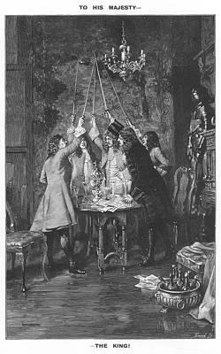 Hanoverian Drawing - A Group Of Scottish Gentlemen  Raise by  Illustrated London News Ltd/Mar