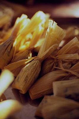 Cooking Photograph - A Group Of Tamalitos by Romulo Yanes