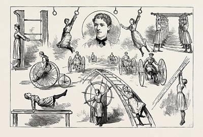 A Gymnastic Display By Ladies At The Liverpool Gymnasium Art Print