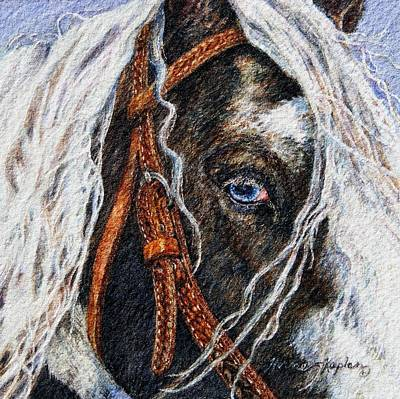 Painting - A Gypsy's Blue Eye by Denise Horne-Kaplan