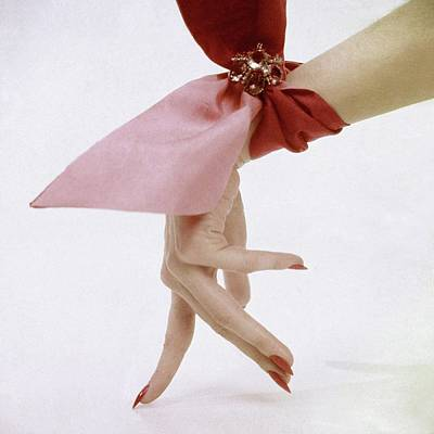 A Hand With A Wrist Scarf Art Print by Clifford Coffin