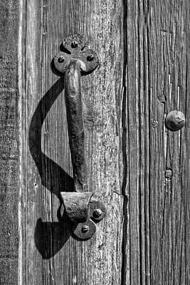 Photograph - A Handle On It - Bw by Nikolyn McDonald