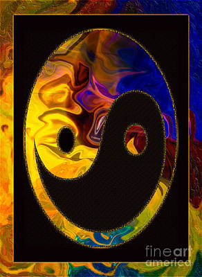 Digital Art - A Happy Balance Of Energies Abstract Healing Art by Omaste Witkowski