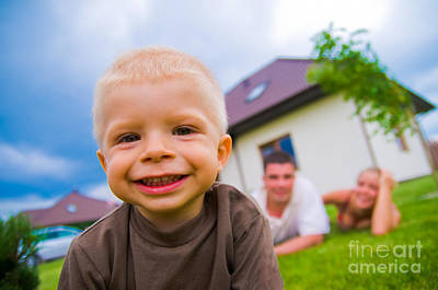 Happy Photograph - A Happy Child Living A Happy Life by Michal Bednarek