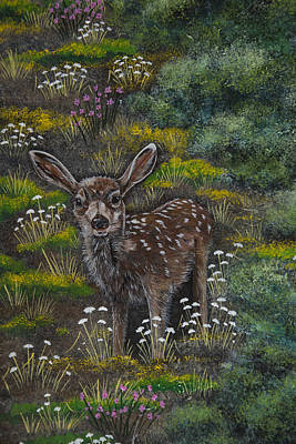 Painting - A Happy Fawn by Jennifer Lake