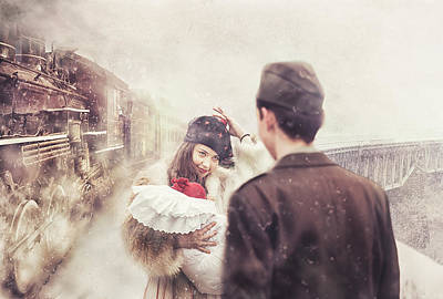 Steam Engines Wall Art - Photograph - A Happy Homecoming by Stanislav Hricko