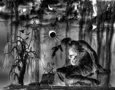 Digital Art - A Hard Rain  by Michael Damiani