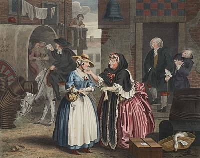 A Harlots Progress, Plate I Art Print by William Hogarth