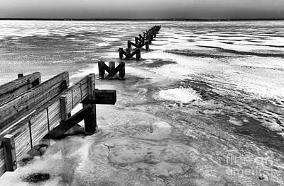 A Harsh Winter Mono Art Print