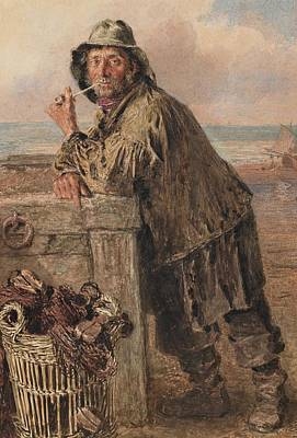 Net Painting - A Hastings Fisherman by William Henry Hunt