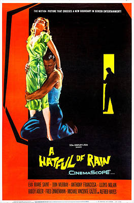 1957 Movies Photograph - A Hatful Of Rain, Us Poster Art, 1957 by Everett