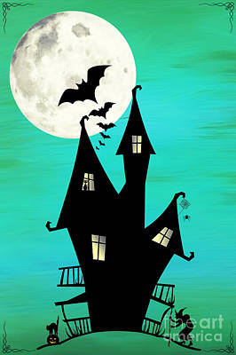 Haunted House Digital Art - A Haunted House by Dream Beyond Art