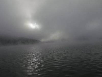 A Haunting Morning On Cave Run Lake Art Print by Amy Manley